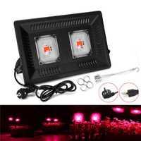 100 W lleno espectro lámpara LED luz creciente AC 110 V 220 V de alta potencia al aire libre impermeable de efecto invernadero hidropónico la siembra
