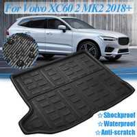 Coffre arrière Cargo Boot Liner plateau tapis de sol feuille de sol tapis boue protecteur étanche pour Volvo XC60 2 MK2 2018 + 2019