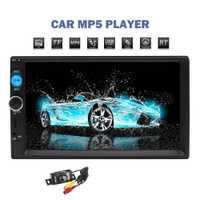 Eincar Radio de coche HD 7 pulgadas de pantalla táctil estéreo 2 Din Bluetooth FM ISO poder USB SD entrada Aux MP4 mp5 Player con cámara de copia de seguridad