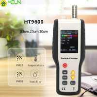 4 en 1 PM2.5 PM10 Detector de analizador de Gas temperatura humedad medidor de partículas de polvo láser del higrómetro del termómetro PM2.5 Monitor de aire