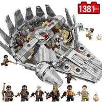 Star millénium Falcon chiffres guerres modèle blocs de construction briques inoffensives éclairer Compatible Legoinglys Starwars jouet