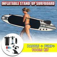 2019 nueva llegada 320x78x15 cm inflable tabla de surf, tabla de surf Paddle surf Junta agua deporte Sup la junta de la bomba de la cuerda de seguridad