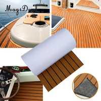 Auto-adhesivo 450x2400x6mm EVA espuma barco suelos de teca cubierta alfombra almohadilla para RV coche barco marino yates Accesorios