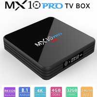 MX10 PRO Android 8,1 Smart TV BOX 4 GB 32 GB RK 3328 Quad Core 1,5 GHz WiFi H.265 5G WIFI Set top box