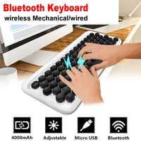 Inalámbrico 78 clave bluetooth mecánica retroiluminado teclado de máquina de escribir Teclado mecánico teclado inalámbrico