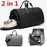 2 en 1 de nuevo de gran capacidad de viaje bolsa de los hombres de las mujeres bolsa de la semana de entrenamiento de Fitness equipaje de almacenamiento bolsa de ocio bolso