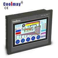 Plc pt100 contrôleur de moteur pas à pas EX3G-50KH-24MT-485P 5 pouces plc hmi intégré 12di 12do panneau tactile de sortie transistor