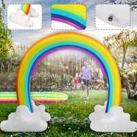 230x170 cm enfants gonflable arroseur d'eau arc-en-ciel enfant jouer amusant jardin plage en plein air jouet environnement sûr PVC matériel