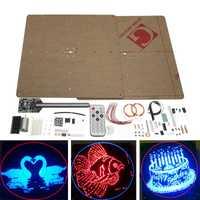 Plano POV 64LED giratorio publicidad luz DIY Flash LED Kit de producción para versión mejorada de soldadura Kit de formación