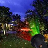 Al aire libre césped moviendo cielo lleno de estrellas de Navidad lámpara de Proyector láser etapa luz LED al aire libre del paisaje jardín Luz de jardín