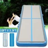 AirTrack 100x300x10 cm inflable barato gimnasia colchón gimnasio secadora de aire piso cayendo aire para venta