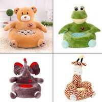 Animales de dibujos animados lindo niño asiento de algodón PP de peluche de felpa suave bebé sofá bebé niño sillón Vivero | muebles de los niños juguetes de peluche