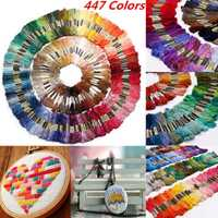 447 unids/set 8 M de coser de algodón madejas de hilo de bordado hilo ancla Cruz puntada DIY talla hilos de coser