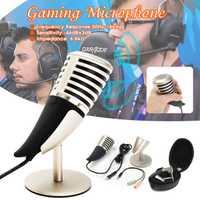 Pro de juegos de escritorio micrófono soporte para ordenador portátil micrófono con soporte de Audio portátil Video micrófonos