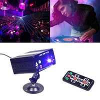 DJ láser etapa de Luz Color 48 RGB patrones tipo lámpara para proyector 3 W LED etapa efecto de iluminación para la discoteca KTV la fiesta de Navidad de la decoración