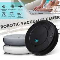 USB de Carga inteligente Robot aspiradora automática barrer polvo limpiador robótico barredora de mármol piso de madera limpiando Anti-caída
