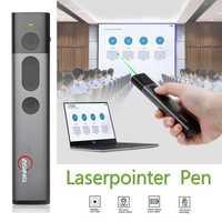 A7 luz verde Flip pluma pantalla LCD PPT Control remoto pluma enseñar uno recargable pantalla pluma 11,11