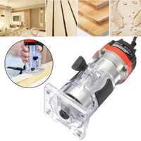 530 W 220 V 35000 RPM 1/4 ''recortador de mano eléctrico Juego de Herramientas de enrutador laminador de madera para herramientas de carpintería