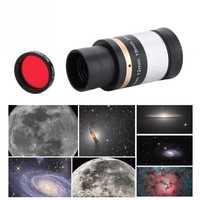 6 piezas 1,25 óptica ocular de filtro con el caso para el telescopio astronómico filtros de color 2019 nuevo estilo