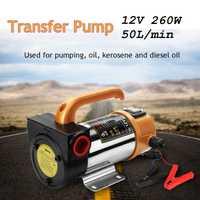 12V 260W Motor de coche portátil para bomba de transferencia de aceite de combustible diésel bomba de aceite autocebante 50L/Min