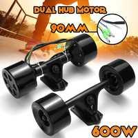 Doble tracción Scooter de Motor de cubo de alta potencia DC sin escobillas Motor de rueda de Control remoto para el monopatín eléctrico de 600 W