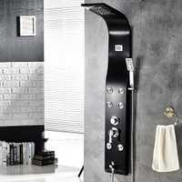 Montado en la pared Panel de ducha Multi-función de temperatura del sistema de pantalla Digital masaje grifo ducha