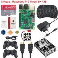 Raspberry Pi 3 Kit de juego + 16G tarjeta SD + teclado inalámbrico + controlador de juego + + Power + disipador de calor + Cable HDMI para RetroPie
