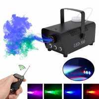 500W brouillard/Machine à fumée w/télécommande RGB LED DJ lanceur DJ fête famille balle loisirs fêtes lumière lanceur de fumée