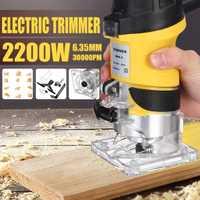 110 V/220 V 2200 W recortadora eléctrica de mano enrutador de madera 6,35mm laminador de carpintería herramientas