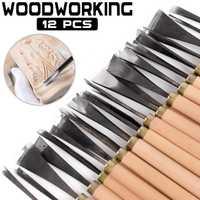 Juego de Herramientas de tallado de madera de 12 piezas