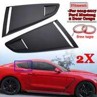 2x del lado del coche ventana trasera cuarto de rejilla lado ventilación Deflector primicia para Ford Mustang 2015-2017 2 puerta para Coupe modelo