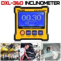 DXL-360 de alta precisión de doble eje pantalla Digital medidor de nivel de ángulo gobernante
