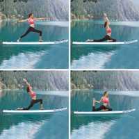 Doble capa de tabla de Surf-propósito ajustable Stand Up Paddle inflable 1000D cepillado tabla de Surf Paddle 330x80x18 cm