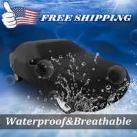 UXCELL negro transpirable impermeable cubierta de coche W espejo bolsillo 3L 4700