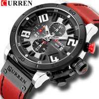 Reloj de pulsera deportivo CURREN para hombre, reloj de cuarzo analógico resistente al agua, reloj para hombre, reloj de cuero, Wach erkek kol saati