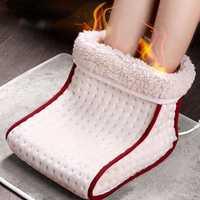 Pie masajeador eléctrico pie caliente lavable de calor 5 modos de ajustes de calor térmico cojín Pie, herramientas para el cuidado de