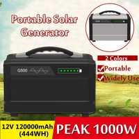 Portable 1000W 120000mAh générateur de stockage d'énergie solaire onduleur extérieur UPS pur onde sinusoïdale alimentation USB stockage d'énergie