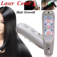 Pelo recrecimiento láser peine Micro corriente para la pérdida de cabello Alopecia cuero cabelludo masaje quitar Dandruff adelgazamiento cabello Reparación de crecimiento
