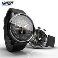 Nuevo LOKMAT inteligente reloj de los hombres de deportes del podómetro Bluetooth impermeable reloj llamada de recordatorio reloj inteligente para ios Android Teléfono