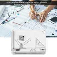 Haute qualité A3 Table à dessin avec mouvement parallèle Angle réglable Support d'outil de dessin d'art Architectural livraison rapide