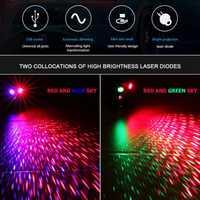 VODOOL LED luz láser proyector USB estrellas cielo estrellado cielo Interior del coche cúpula atmósfera lámpara casa parte de Control de voz Luz de proyección