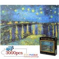 3000 pièces puzzle peinture bricolage créativité imaginer Art jouets ensemble pour enfants adultes développer Patience Focus réduire la pression