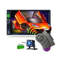 7-pulgadas ISO Puerto Full HD 1080 P coche Bluetooth medios MP5 jugador GPS Navigator Android Teléfono imagen HD retrovisor reproductor Multimedia