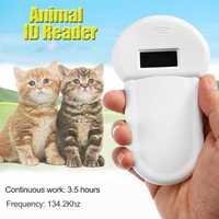 ISO11784/11785/134,2 KHz FDX-B del Chip RFID lector para perro gato pantalla LED Microchip Animal escáner de mano para mascotas etiqueta de escáner