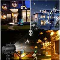 Proyector láser de Navidad para exteriores lámpara de césped con diseño de animales proyector de escenario ducha paisaje iluminación de jardín D