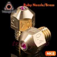 Trianglelab haute température MK8 ruby buse 1.75 MM Compatible avec des matériaux spéciaux PETG ABS PEI PEEK NYLON etc. ruby buse