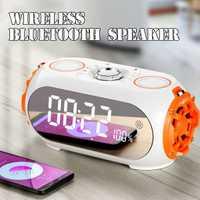 Bluetooth altavoz móvil espejo LED de alarma de reloj Digital Reloj de Mesa Electrónica en la pantalla en tiempo reloj Digital Led reloj Nixie