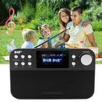 Mini portátil de Radio Digital receptor de Radio FM con LCD Digital Reloj repetición Función del reloj de alarma al aire libre reproductor de música