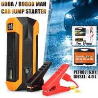 89800 mAh coche de arranque salto 12 V 4USB 600A de batería de coche portátil cargador de refuerzo de banco de potencia que dispositivo Coche motor de arranque