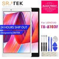 Srjtek para Lenovo Tab 3 8 Plus Tab3 P8 TB-8703F TB-8703N TB-8703 digitalizador de pantalla táctil + LCD de pantalla de la Asamblea de piezas de repuesto